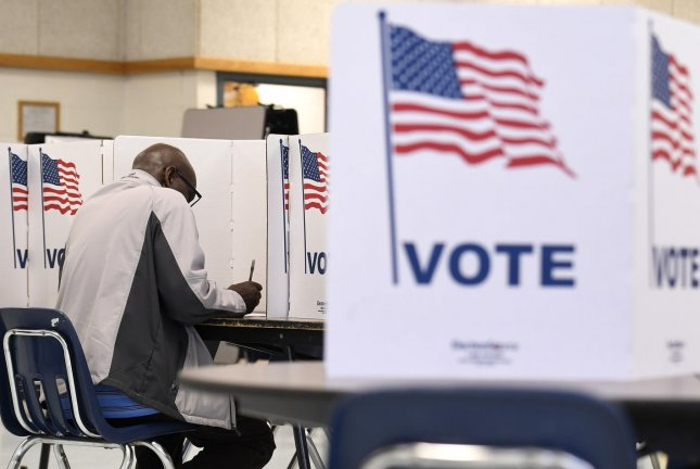 The Justice and Homeland Security Departments said efforts are underway to prevent election meddling for the 2020 races. File Photo by Mike Theiler/UPI
