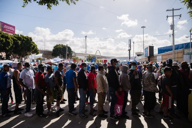 The Biden administration on Monday extended Title 42 to permit border officials to expel migrants in an effort to prevent the spread of COVID-19. File Photo by Ariana Drehsler/UPI