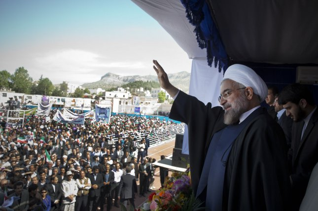 Iranian President Hassan Rouhani helping to steer an economy that may have been honed for navigating the weak oil economy by sanctions, Moody's finds. File photo by Maryam Rahmanian/UPI