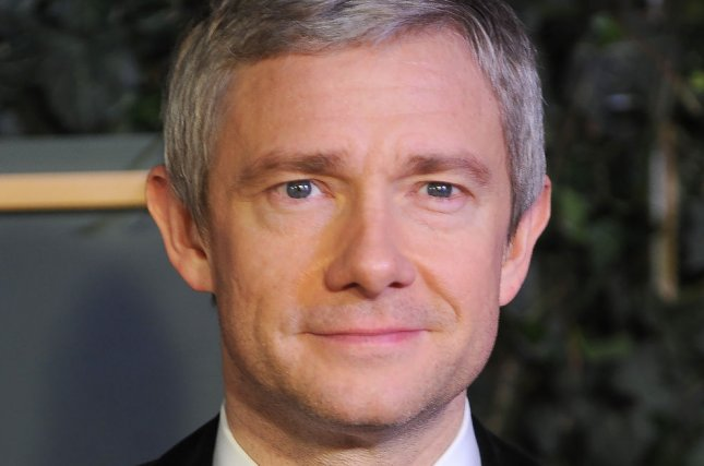 Sherlock actor Martin Freeman attends the Evening Standard Theatre Awards in London on November 21, 2015. File Photo by Paul Treadway/UPI