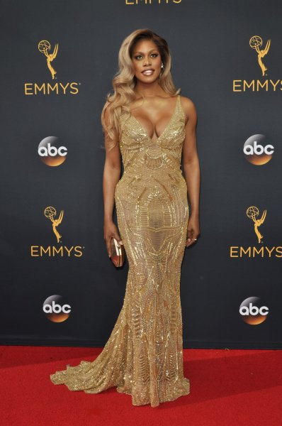 Actress Laverne Cox arrives for the 68th annual Primetime Emmy Awards at Microsoft Theater in Los Angeles on September 18, 2016. Photo by Christine Chew/UPI