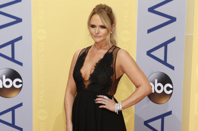 Miranda Lambert arrives at the 2016 Country Music Awards at Bridgestone Arena in Nashville, Tenn., on Wednesday. Lambert, along with fellow country stars Little Big Town and Dolly Parton, read mean tweets directed at them on Jimmy Kimmel Live! Photo by John Sommers II/UPI