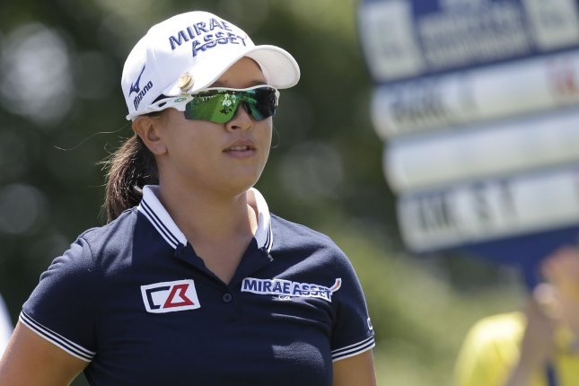 Sei Young Kim put together a strong Saturday to tie for the lead at the Ladies Scottish Open. Photo by John Angelillo/UPI
