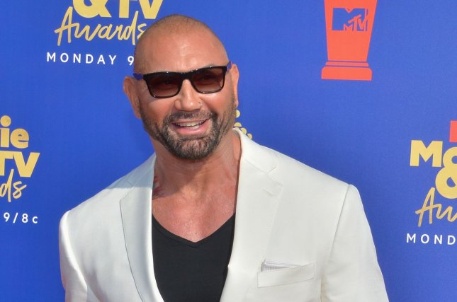 Dave Bautista will join Jason Momoa, Alfre Woodard and Sylvia Hoeks in the Apple TV+ series See. File Photo by Jim Ruymen/UPI