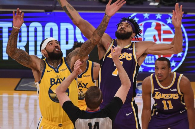 Golden State Warriors center Willie Cauley-Stein (L) has averaged 7.9 points and 6.2 rebounds per game this season. File Photo by Jon SooHoo/UPI