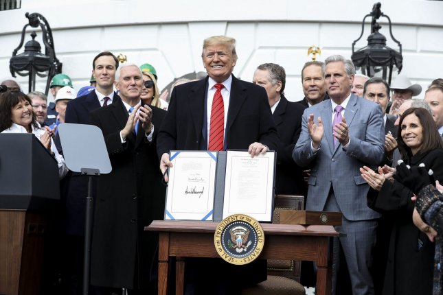 The United States-Mexico-Canada Trade Agreement, signed into law by President Donald Trump went into effect on Wednesday, amid lingering issues and the COVID-19 pandemic. Photo by Oliver Contreras/UPI