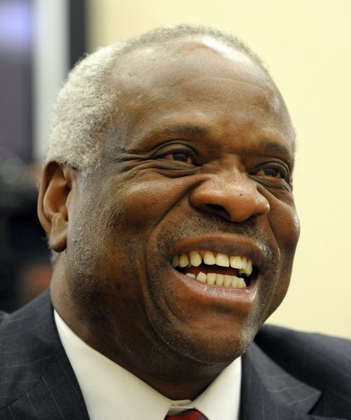 Supreme Court Justice Clarence Thomas seen in this March 2008 file photo. (UPI Photo/Roger L. Wollenberg)