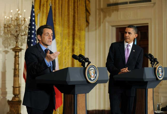 U.S. President Barack Obama (R) and French President Nicolas Sarkozy hold a joint press conference at the White House in Washington March 30, 2010. UPI/Kevin Dietsch