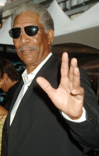 Actor Morgan Freeman, seen here in this July 14, 2008 file photo at the premier of The Dark Knight in New York, was severely injured in a car accident late Sunday night and now being treated in a Memphis hospital, August 4, 2008. (UPI Photo/Ezio Petersen/Files)