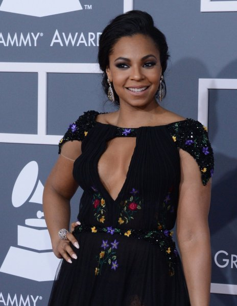 Ashanti arrives at the 55th annual Grammy Awards at the Staples Center in Los Angeles on February 10, 2013. UPI/Jim Ruymen