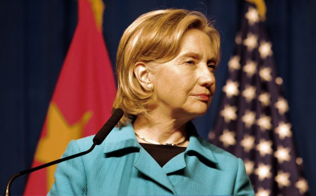 U.S. Secretary of State Hillary Clinton at a news conference in Beijing, May 25, 2010. UPI/Stephen Shaver