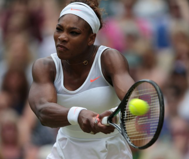 Serena Williams, shown at the 2013 Wimbledon Championships, was a first-round winner Tuesday at the Collector Swedish Open. UPI/Hugo Philpott