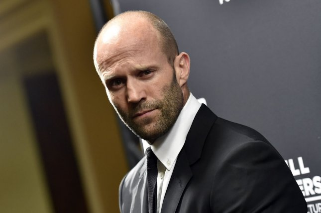 Jason Statham attends the Pioneer of the Year dinner at Caesars Palace during CinemaCon on April 22, 2015. File Photo by David Becker/UPI