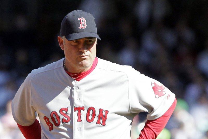 Boston Red Sox manager John Farrell. UPI/John Angelillo