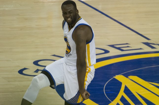 Golden State Warriors Draymond Green will avoid jail time over a slapping incident in a deal with the district attorney. File photo by Terry Schmitt/UPI