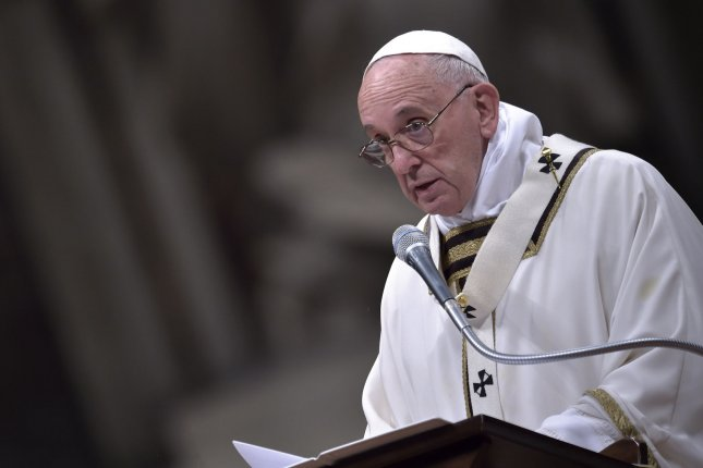 Pope Francis pledged to visit the towns worst-hit by Wednesday's devastating 6.2-magnitude earthquake that killed at least 290 people. He said the Catholic Church shares the victim's suffering and their concerns. File Photo by Stefano Spaziani/UPI