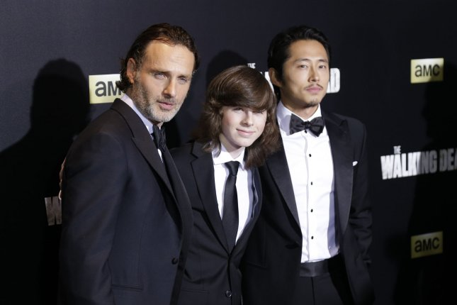 Characters played by Andrew Lincoln, Chandler Riggs and Steven Yeun have all recently been written off The Walking Dead. Another hero exited the zombie-apocalypse Sunday. File Photo by John Angelillo/UPI