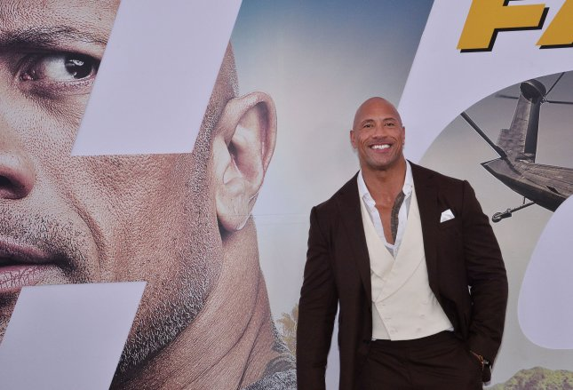 Cast member Dwayne Johnson attends the premiere of Fast & Furious Presents: Hobbs & Shaw in Los Angeles on July 13. Photo by Jim Ruymen/UPI