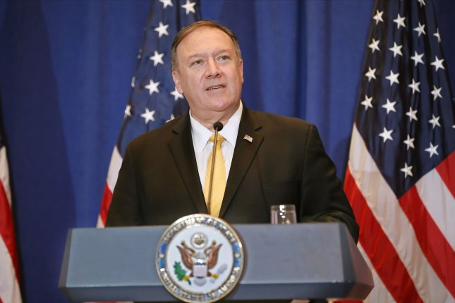 U.S. Secretary of State Mike Pompeo was part of the July 25 call between President Donald Trump and Ukraine leader Volodymyr Zelensky. File Photo by Monika Graff/UPI