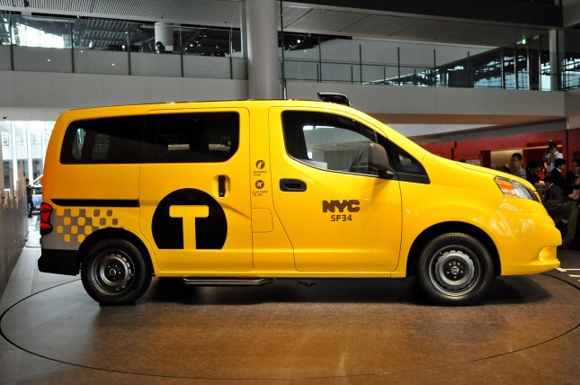 New York's taxi NV200 is displayed during the press conference at Nissan's global headquarters in Yokohama, Kanagawa prefecture, Japan, on May 29, 2012. The NV200 was chosen by the New York City Taxi and Limousine Commission as the city's Taxi for Tomorrow. UPI/Keizo Mori