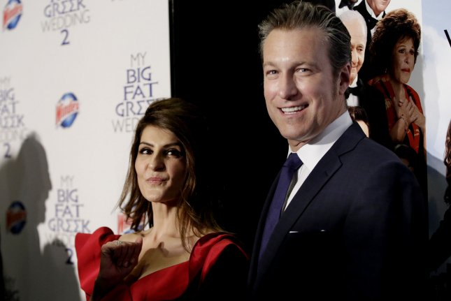Nia Vardalos and John Corbett arrive at the My Big Fat Greek Wedding 2 premiere March 15, 2016 in New York City. Photo by John Angelillo/UPI