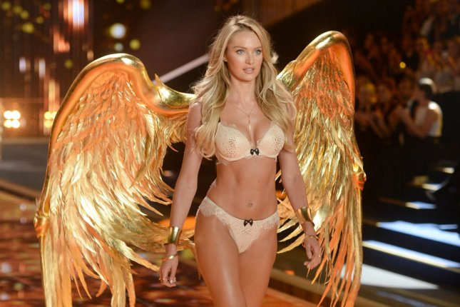 South African model Candice Swanepoel on the runway during the 2014 Victoria's Secret Fashion Show in London. File Photo by Paul Treadway/UPI