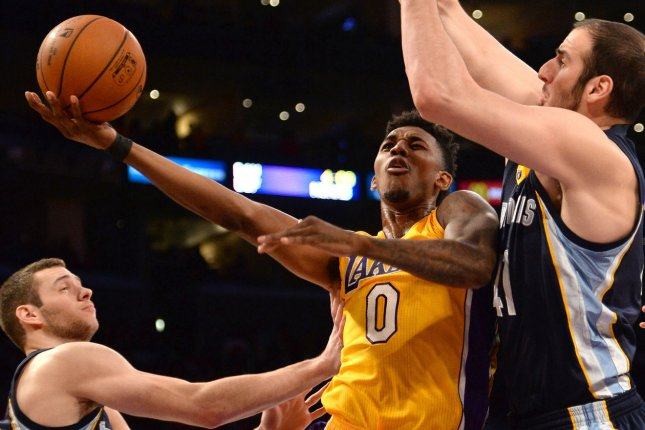 Nick Young scored 26 points as the the Los Angeles Lakers managed to withstand a furious comeback attempt down the stretch and hold off the Milwaukee Bucks for a 122-114 victory at the Bradley Center. File Photo by Jon SooHoo/UPI