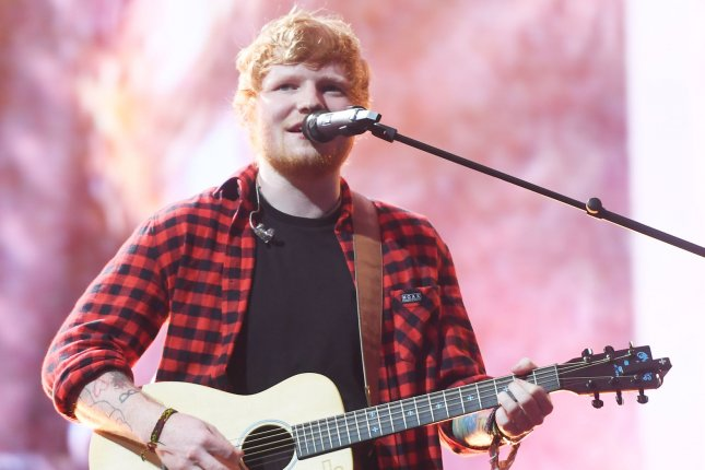 Ed Sheeran performed Bad Habits and chatted with James Corden on The Late Late Show. File Photo by Rune Hellestad/UPI