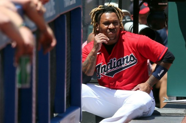 Jose Ramirez and the Cleveland Indians will keep their nickname for the rest of the 2021 season and become the Cleveland Guardians in 2022. File Photo by Aaron Josefczyk/UPI