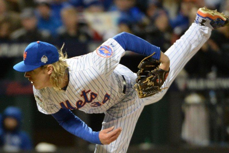 New York Mets' Noah Syndergaard smokes catcher, imprints necklace