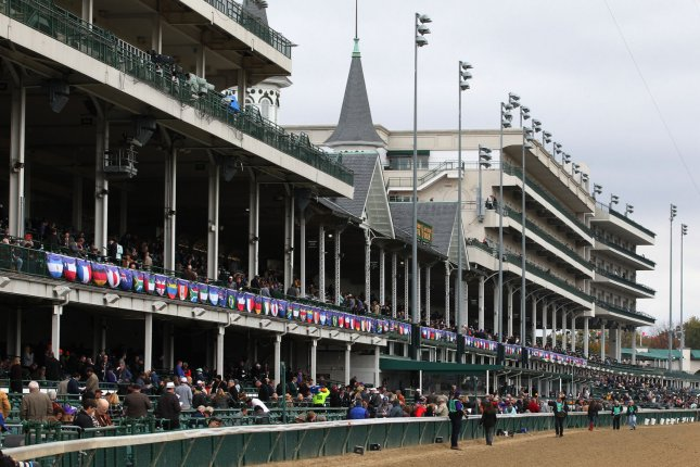 The top three horses in the Arkansas Derby are set to race May 4 in the Kentucky Derby at Churchill Downs in Louisville, Ky. File Photo by John Sommers II/UPI