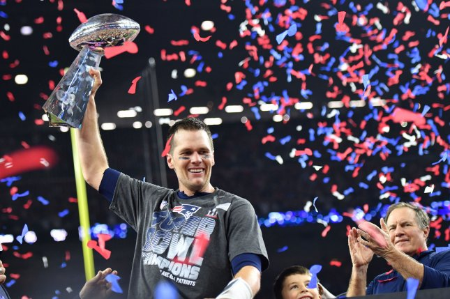 Tom Brady signed with the Tampa Bay Buccaneers in March after spending 20 years with the New England Patriots. File Photo by Kevin Dietsch/UPI