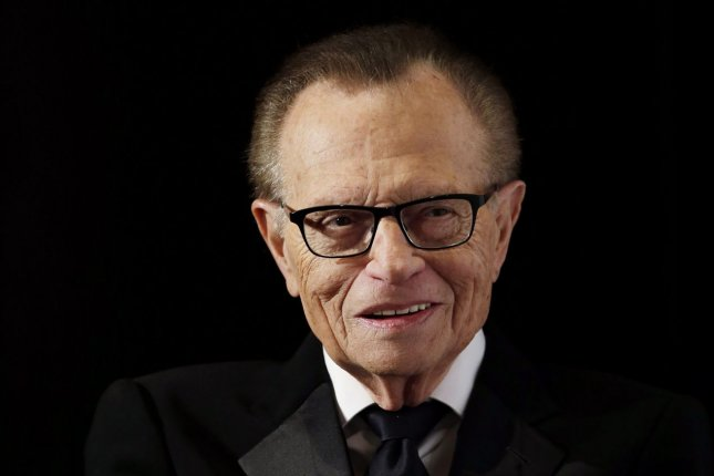 Celebrities are paying tribute to Larry King, who died Saturday at the age of 87. File Photo by John Angelillo/UPI