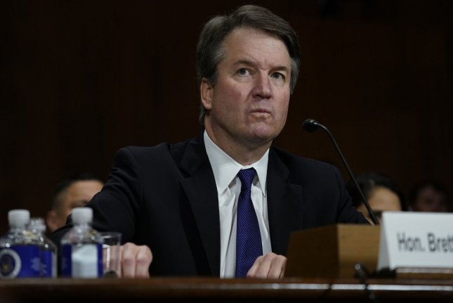 Sen. Sheldon Whitehouse, D-R.I., said the FBI's investigation into Supreme Court Justice Brett Kavanaugh, pictured, may have been politically constrained and perhaps fake in a letter to the Justice Department.File Photo by Andrew Harnik/UPI