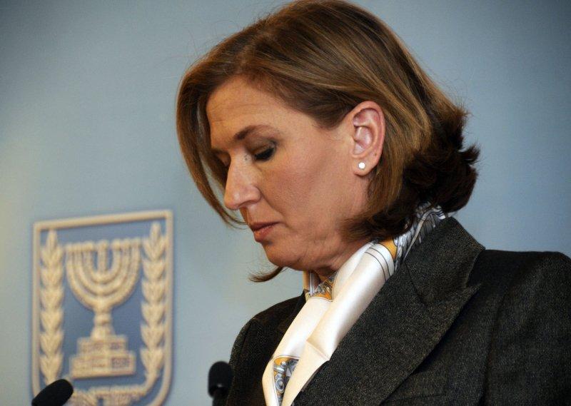 Israeli Foreign MInister Tzipi Livni holds a press conference in Jerusalem, January 5, 2009. (UPI Photo/Debbie Hill)