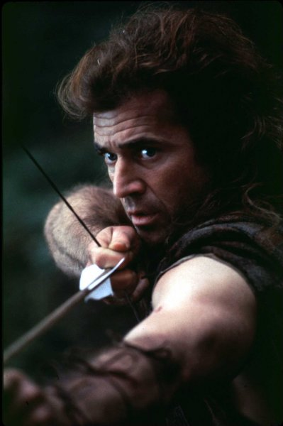 LAP96021347-13FEBRUARY1996-BEVERLY HILLS,CALIFORNIA,USA: Mel Gibson, who produced and directed the motion picture epic Braveheart, also stars as legendary Scottish knight Sir William Wallace. UPI