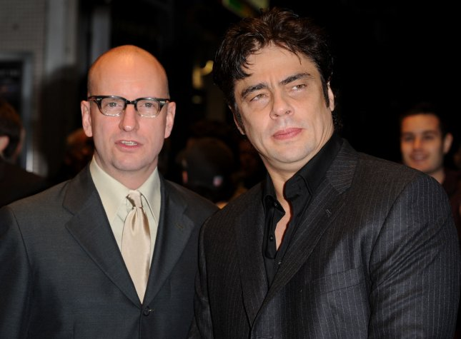 American actor Benicio Del Toro and director Stephen Soderbergh attend the premiere of Che at The Times BFI London Film Festival at Odeon West End, Leicester Square in London on October 25, 2008. (UPI Photo/Rune Hellestad)