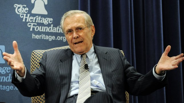 Donald Rumsfeld worried about gay marriage, polygamy