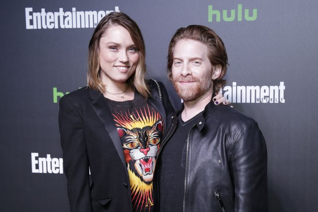 Clare Grant and Seth Green arrive on the red carpet Hulu's New York Comic Con After Party at The Lobster Club on October 6 in New York City. Green turns 44 on February 8. File Photo by John Angelillo/UPI