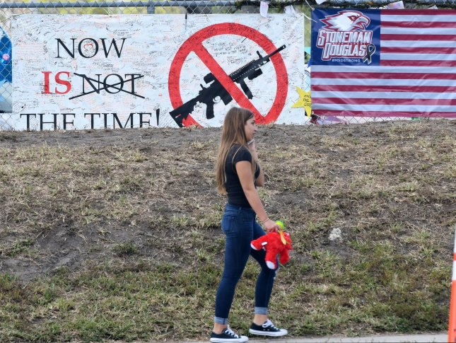 New Jersey sold a $1.9 million stake in a company that manufactures automatic and semi-automatic rifles from its $76.7 billion pension fund following the shooting at Marjory Stoneman Douglas High School in which 17 people were killed by a gunman wielding an AR-15. File Photo by Gary Rothstein/UPI