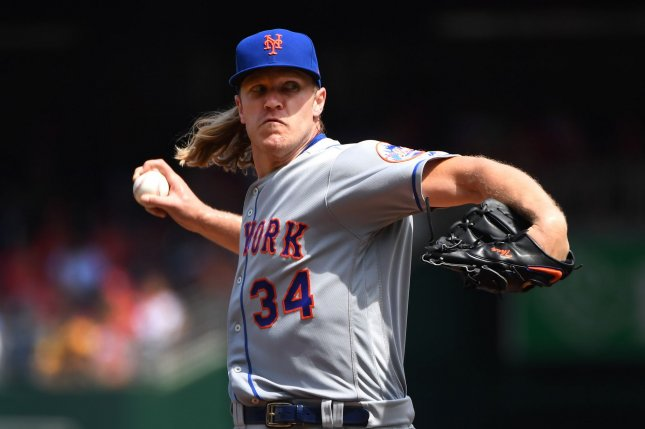 New York Mets starting pitcher Noah Syndergaard will undergo the procedure Thursday at the Hospital for Special Surgery in West Palm Beach, Fla. File Photo by Kevin Dietsch/UPI