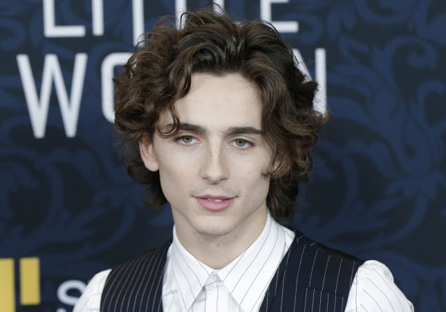Timothee Chalamet's film A Rainy Day in New York will open in North America on Oct. 9. File Photo by John Angelillo/UPI