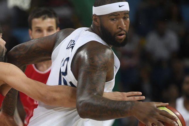 Houston Rockets center DeMarcus Cousins was ejected after he committed two technical fouls during a loss to the Los Angeles Lakers on Sunday in Houston. File Photo by Mike Theiler/UPI