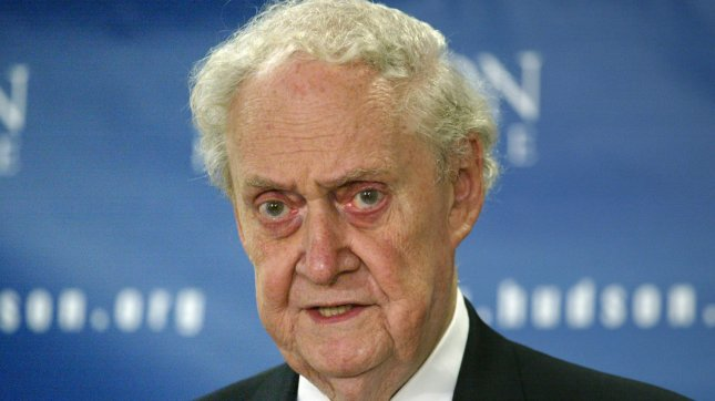 Former Supreme Court nominee Robert Bork speaks at the conference on the Judicial Nomination Process at the Hudson Institute in Washington, September 1, 2005. (UPI Photo/Yuri Gripas).