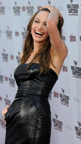 Actress Angelina Jolie attends the premiere of the motion picture war drama Inglourious Basterds at Grauman's Chineses Theatre in Los Angles on August 10, 2009. UPI/Jim Ruymen