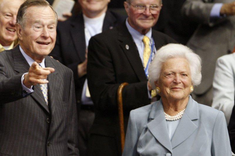 Former U.S. President George H. W. Bush and former First Lady Barbara Bush. (UPI Photo/Brian Kersey)