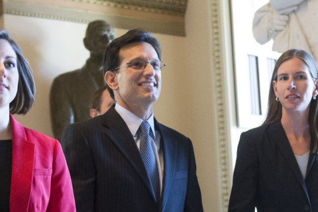 Outgoing House Majority Leader Eric Cantor, R-Va, leaves the House chambers after delivering a speech on Capitol Hill on July 31, 2014 in Washington, D.C. UPI/Kevin Dietsch
