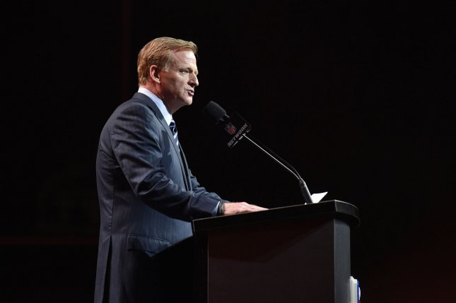 NFL commissioner Roger Goodell is reportedly in line for a contract extension. Photo by Derik Hamilton/UPI