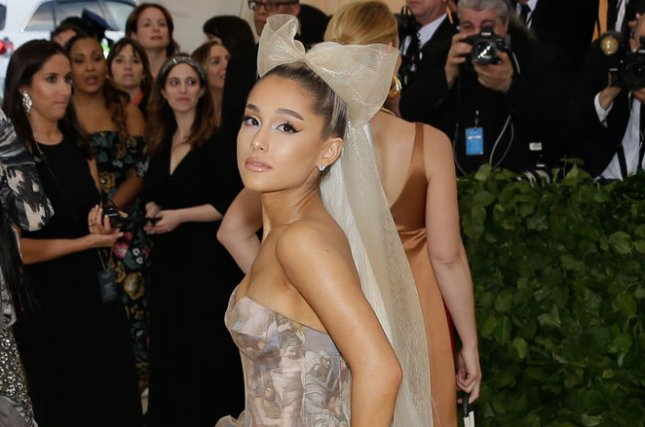 Ariana Grande attends the Costume Institute Benefit at the Metropolitan Museum of Art on May 7. File Photo by John Angelillo/UPI