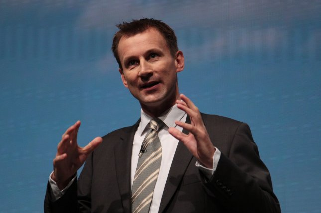 British Foreign Secretary Jeremy Hunt said Conservative Members of Parliament should vote in favor of Theresa May's Brexit deal or risk the withdrawal falling through. File Photo by Hugo Philpott/UPI